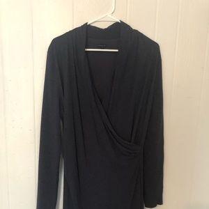 Ann Taylor Heather Navy Faux Wrap Dress 🛍🛍